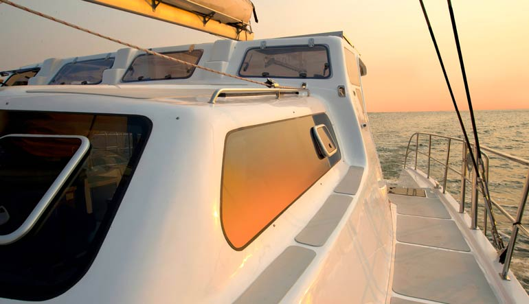 Royal Cape Catamarans, Majestic 530 Yacht, sunrise