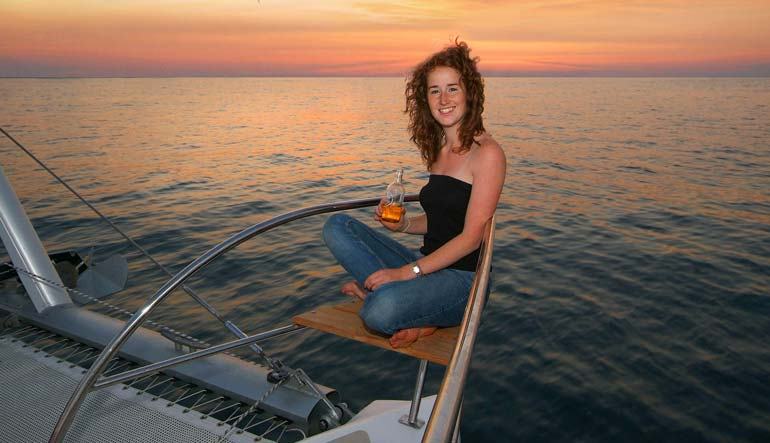 Royal Cape Catamarans, Majestic 530 Yacht, Lifestyle sundowners