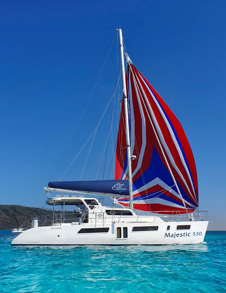 Sailing Catamaran, Royal Cape Catamarans, New Majestic 530 Yacht