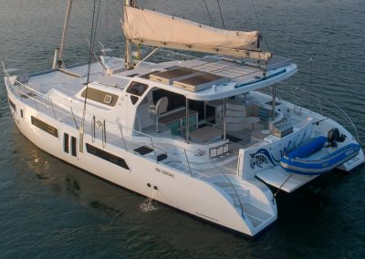 Royal Cape Catamarans, Majestic 530 aerial side view