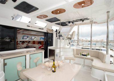 Royal Cape Catamarans, cockpit and leisure deck