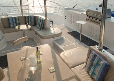 Royal Cape Catamarans, Majestic 530, sundowners on deck