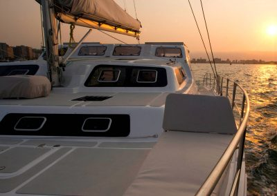 Royal Cape Catamarans, New Majestic 530 at sunrise, Durban