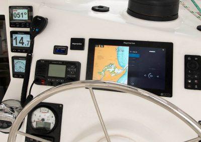 Royal Cape Catamarans Navigation Station or helm