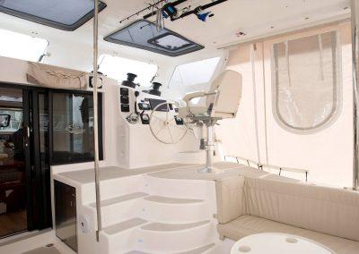 Royal Cape Catamarans, cockpit, helm