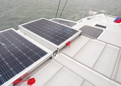 Royal Cape Catamarans, Solar panel on deck of Majestic 530