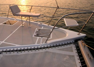 Royal Cape Catamaran, Majestic 530 bow, sunrise