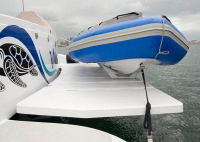 Royal Cape Catamarans, Majestic 530 tender deck
