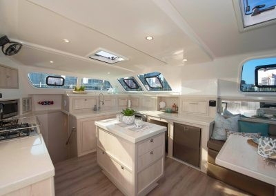 Royal Cape Catamarans, New Luxurious Majestic 570, galley, salon