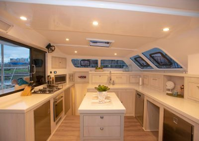 Royal Cape Catamarans, New Luxurious Majestic 570, galley