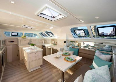 Royal Cape Catamarans, New Luxurious Majestic 570, galley salon