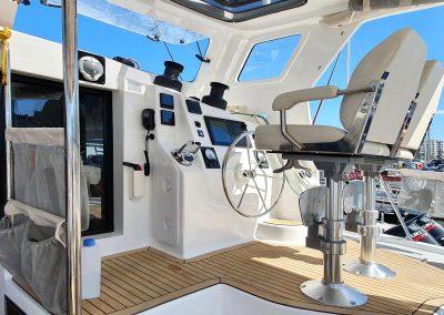 Majestic 530, Luxury Catamaran, helm