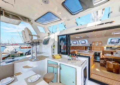 Majestic 530, Luxury Catamaran Cockpit