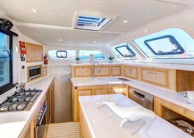 Majestic 530, Luxury Catamaran galley